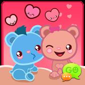 GO SMS Pro Loving Bears Theme