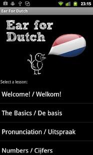 Learn Dutch with Ear for Dutch- screenshot thumbnail