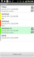 Screenshot of aNotepad