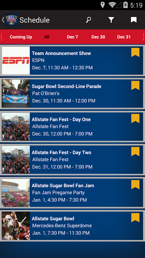 Allstate Sugar Bowl- screenshot