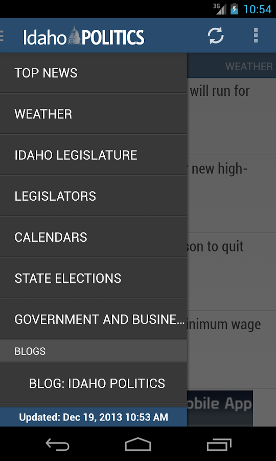 Idaho Politics- State Gov News - screenshot