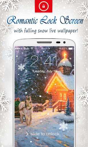 聖誕動態雪花鎖屏