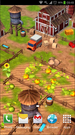 Cartoon Farm 3D Live Wallpaper