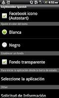 Screenshot of DayWeekBar Español