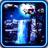 Night Waterfall live wallpaper