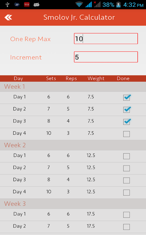 smolov squat calculator android apps on google play