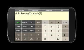 Screenshot of Pi Scientific Calculator