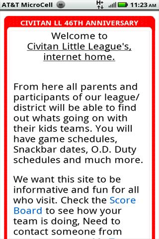 Civitan Little League - screenshot