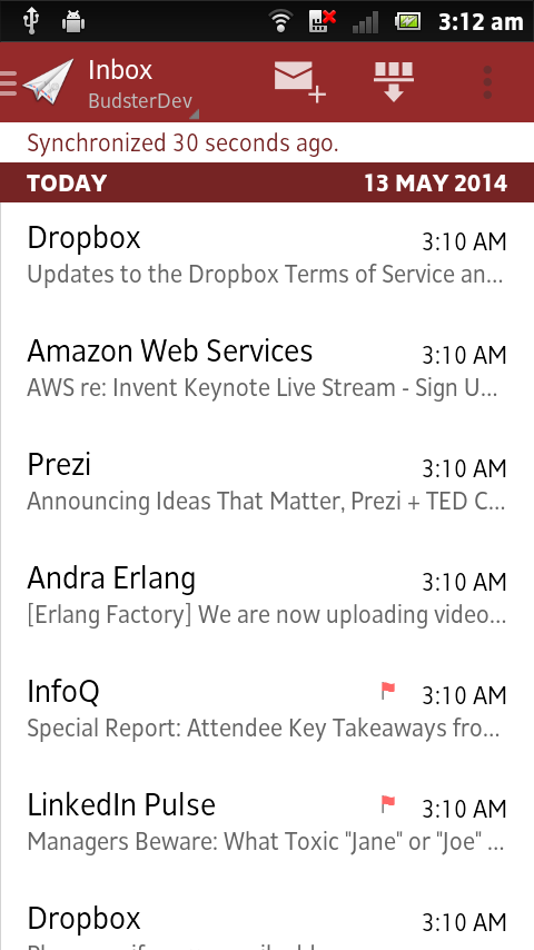 MailDroid - Email Application - screenshot
