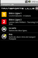 Screenshot of Transports Lille