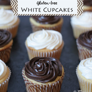 White Cupcakes & Review of The Everything Guide to Living Gluten-free