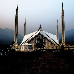 Faisal mosque by Uzair RIaz - City,  Street & Park  Historic Districts ( #islamabad  #pakistan, , building, interior, worship )