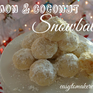 Lemon & Coconut Snowballs
