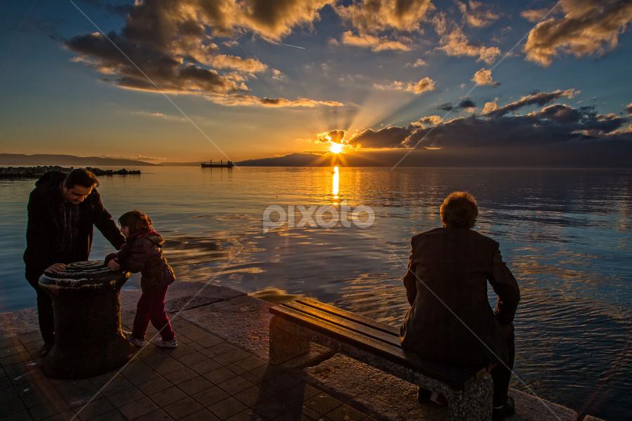 Rijeka port by Stanislav Horacek - Landscapes Sunsets & Sunrises