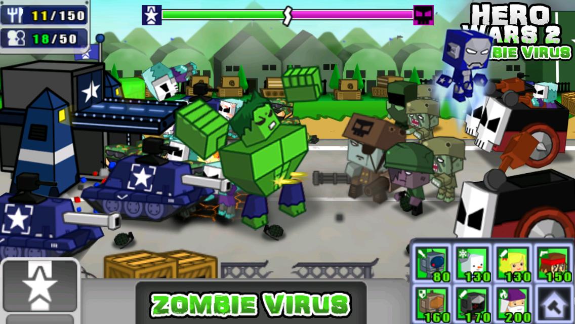 Hero Wars 2 Zombie Virus MOD APK