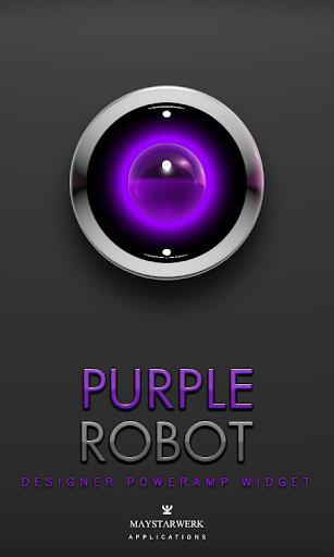 Poweramp Widget Purple Robot