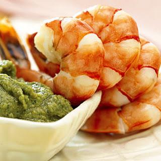 Shrimp with Artichoke Pesto.