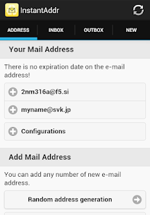 Instant Email Address- screenshot thumbnail