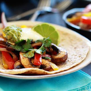 Vegetarian Fajitas with Portabella Mushroom