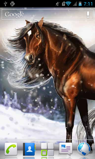 Horse and Winter Scenery alive