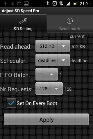 Adjust SD Speed Pro - screenshot