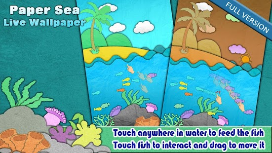 Paper Sea Live Wallpaper Free - screenshot thumbnail