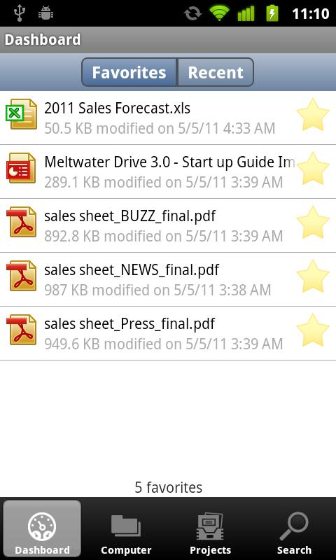 Meltwater Drive Backup - screenshot
