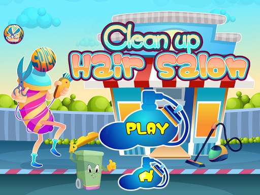 Hair salon cleaning games