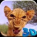 Lion cub live wallpaper 3D icon