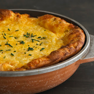 Pear and Smoked Gouda Dutch Baby