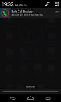 Screenshot of Safe Call Blocker (black list)
