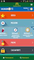 Screenshot of McDonald's Italia