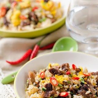 Mongolian Beef Fried Rice.