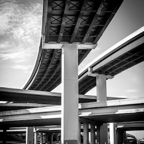 High Way by Bob Barrett - Transportation Roads ( highway, overpass )