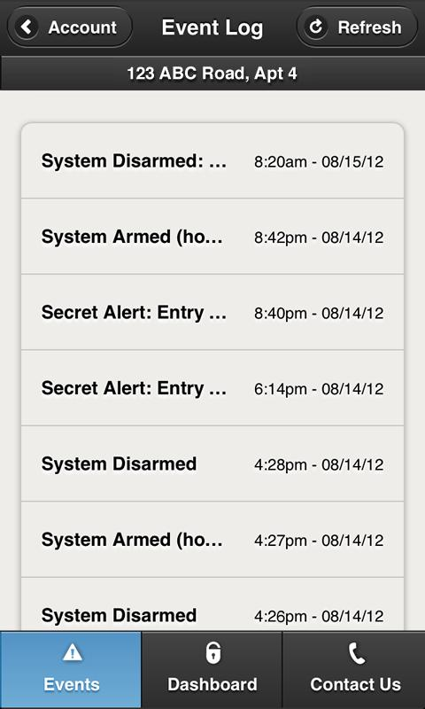 SimpliSafe Home Security App - screenshot