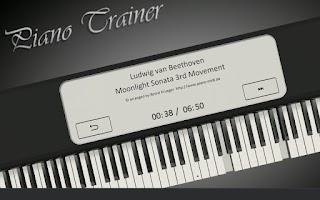 Screenshot of Virtual Piano Trainer