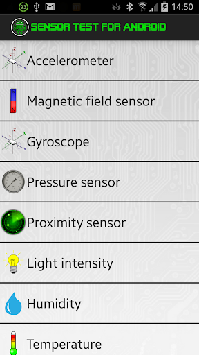 Sensor Test for Android
