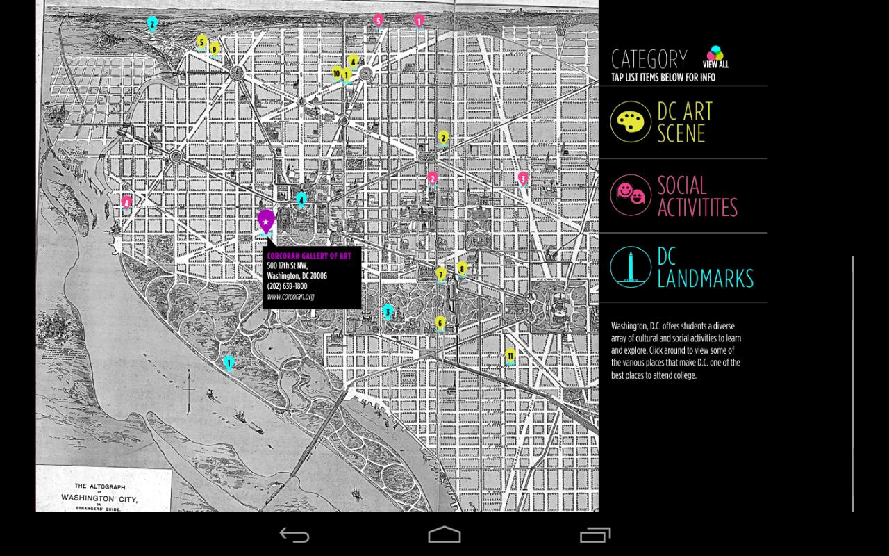 Corcoran College Art + Design - screenshot