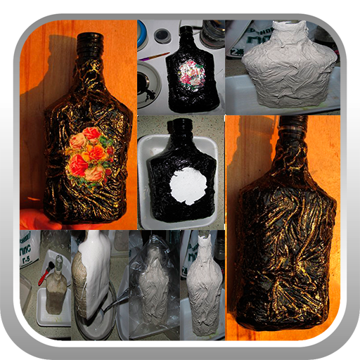 石膏装饰瓶。手工制作 娛樂 App LOGO-APP試玩
