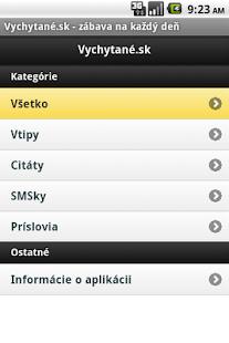 Vychytane.sk - screenshot thumbnail