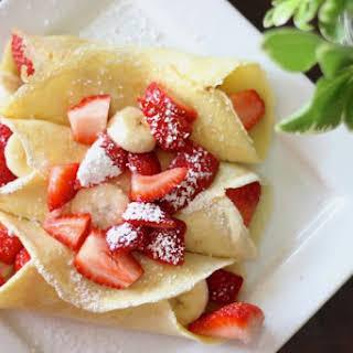 Strawberry Banana Crepes.