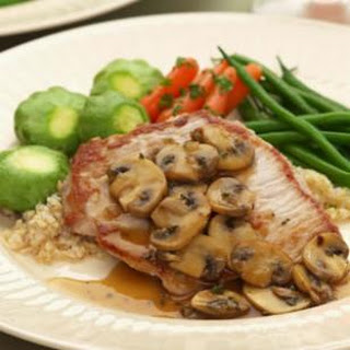 Boneless Pork Chops with Mushrooms & Thyme.