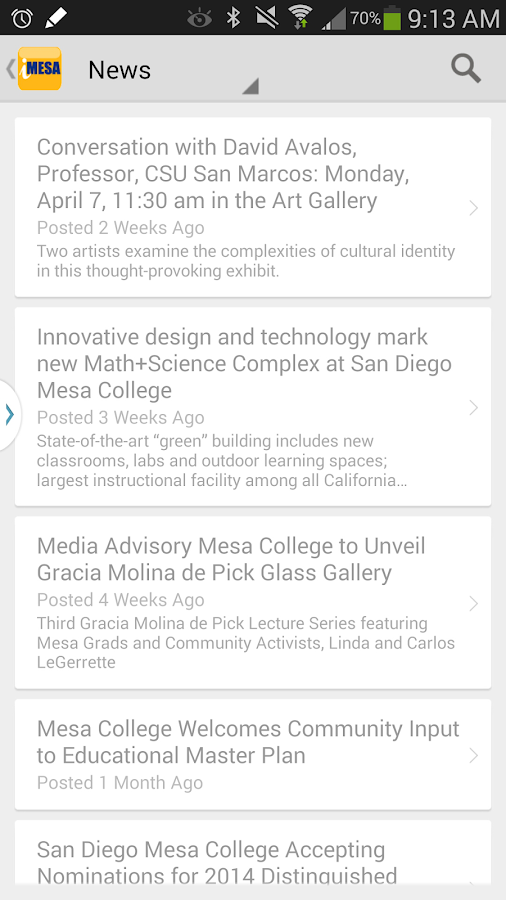 iMesa Mobile- screenshot
