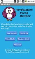Screenshot of Wordalation Vocab Builder