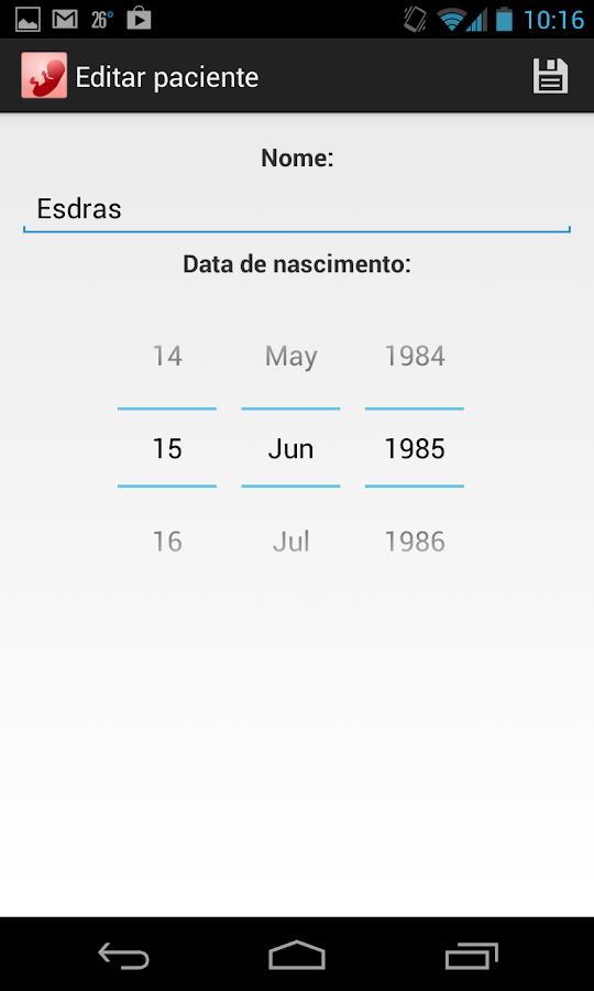 Idade Gestacional - screenshot
