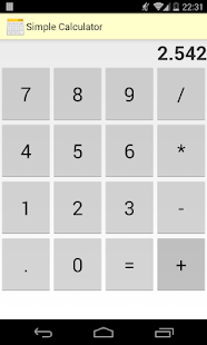 Simple Calculator Free- screenshot thumbnail