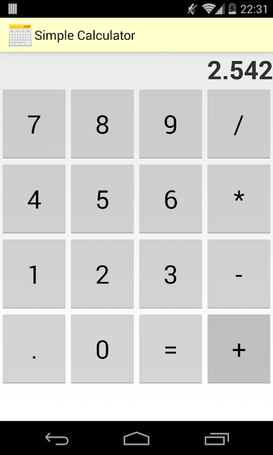 Simple Calculator Free - screenshot
