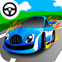 Fast car games for little kids icon