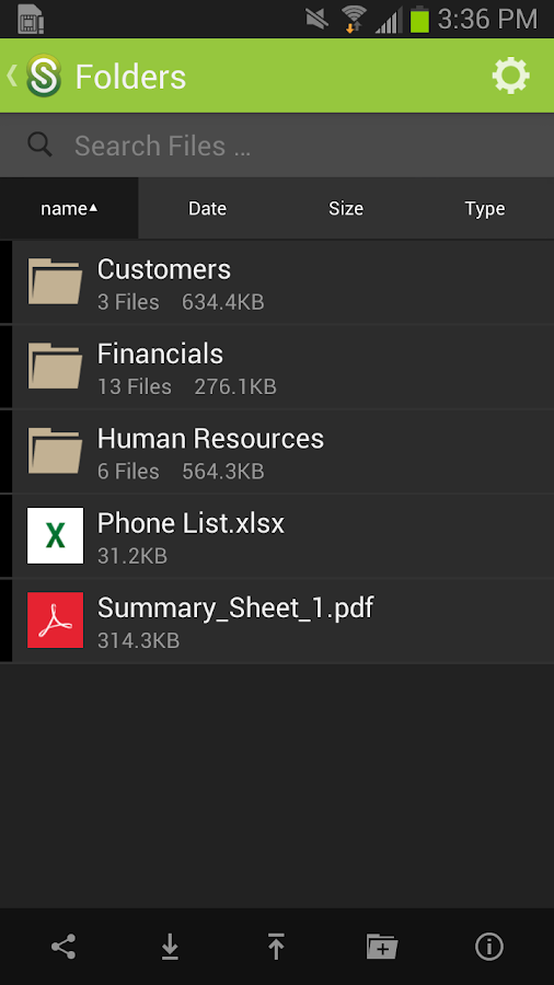 ShareFile for Tablets - screenshot