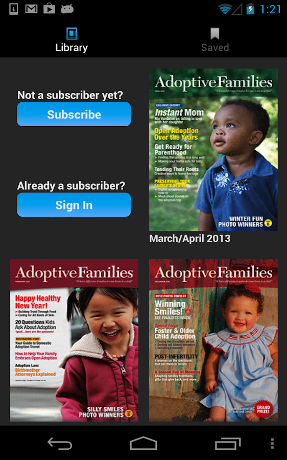 Adoptive Families Magazine- screenshot